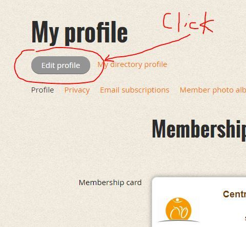 Click to get to Group Participation check boxes